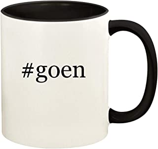 #goen - 11oz Hashtag Ceramic Colored Handle and Inside Coffee Mug Cup, Black