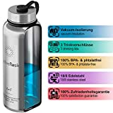 ACTIVE FLASK von BeMaxx Fitness 950ml (Classic Stainless) - 3