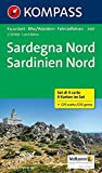 Sardegna Nord - Sardinien Nord: Wanderkarten-Set. GPS-genau. 1:50000: 4-delige Wandelkaart 1:50 000 (KOMPASS-Wanderkarten, Band 2497)