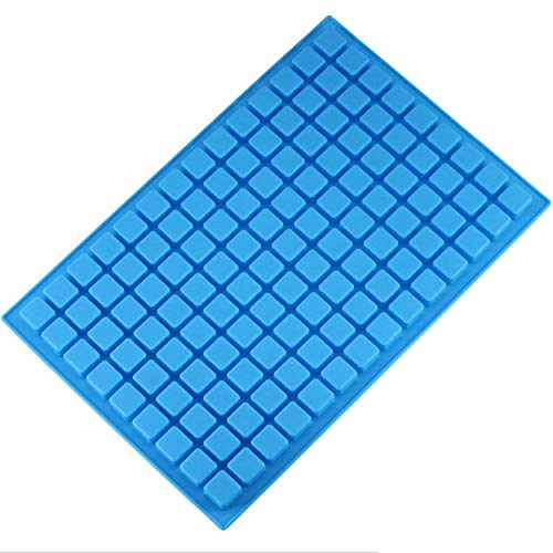 Mujiang 126-Cavity Ice Cube Tray, Silicone Molds for Making Homemade Chocolate Candy Gummy Jelly