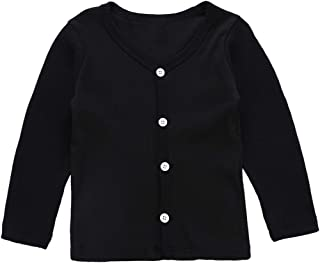 1-6T Boys Girls Cardigan Knitted Thin Sweater Long Sleeve School Uniform Clothes