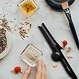 Geldee Haarglätter Glätteisen Mini Lockenstab 2 in 1 Faltbarer Keramik Lockenwickler Schnelle Aufheizung mit Aufbewahrungstasche - 4