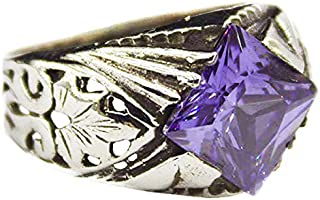 925 Sterling Silver Mens Ring Zircon Falcon Jewelry Turquoise Onyx Created Stone Amethyst Citrine Sapphire Free Express Shipping