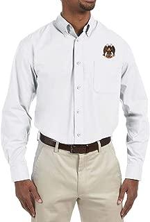 32nd Degree Scottish Rite Embroidered Masonic Men's Poplin Button Down Dress Shirt