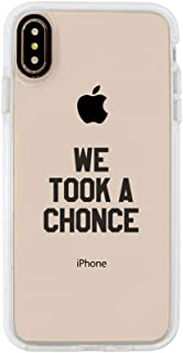 Ultra Slim iPhone Case - Silicone Protective Cover - Compatible for iPhone X/iPhone Xs - We Took A Chonce - 1Daf - Professional Fangirl - Black Flexible Soft TPU Cover Case