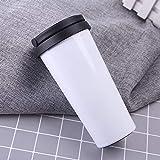 yywl Taza de viaje de 500 ml de doble capa de acero inoxidable para café, termo para exteriores, portátil al vacío,...