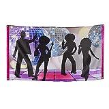 Boland 00738 - Fahne Disco Fever, Größe 150 x 90 cm, Material Polyester, 70er Jahre, Banner,...