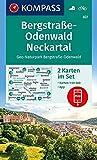 KOMPASS Wanderkarte Bergstraße-Odenwald, Neckartal, Geo-Naturpark Bergstraße-Odenwald: 2 Wanderkarten 1:50000 im Set inklusive Karte zur offline ... (KOMPASS-Wanderkarten, Band 827)