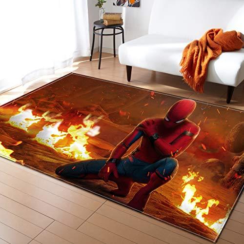 EU-VV Tapis Tapis Super Doux Motif 3D Salon Chambre pour Enfants Jouer Solide Décorateur De Maison Tapis De Sol (99x152cm,Spiderman)