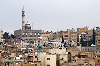 AMMAN JORDAN SKYLINE GLOSSY POSTER PICTURE PHOTO BANNER capital city aerial