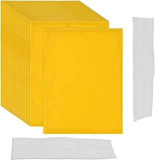 20Pcs Trampas para Moscas de 20 x 15 cm TIMESETL Trampa Adhesiva para Insectos de Doble Cara con Cuerda de 20 cm, Trampas ...