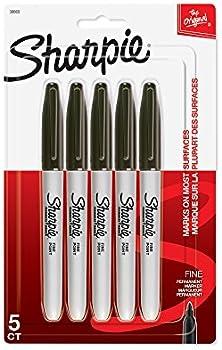5-Pack Sharpie Permanent Fine Point Marker