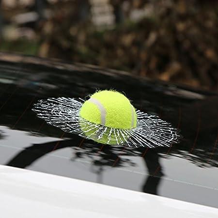 Folconroad 3d Kugel Autoaufkleber Kreativer Hit Auto Aufkleber Weiß Tennis Design Auto