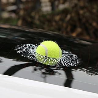 Folconroad 3D Kugel Autoaufkleber, kreativer Hit, Auto Aufkleber, Weiß   Tennis Design