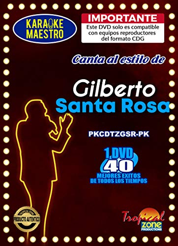 Check Out This Karaoke Gilberto Santa Rosa DVD 40 Best Songs Ever