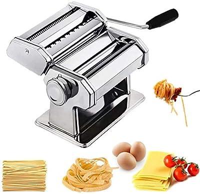 LCRUNONE Pasta Ravioli Maker Set All in one 9 Thickness Settings for Fresh Homemade Fettuccine Spaghetti Lasagne Dough Roller Press Cutter Noodle Making Machine P1802