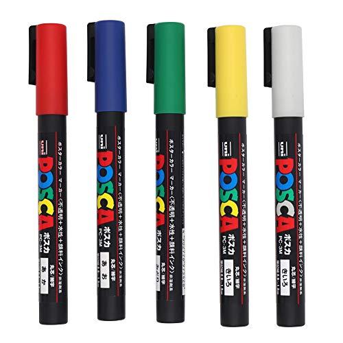 M.Z.A Bienenkönigin-Markierstift, 5 Farben, Kunststoff, weiß, gelb, rot, grün, blau, Marker-Set