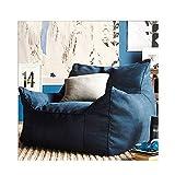 HAOLIN Outdoor Sitzsack Liege Wetterfest Frostsicher Gartenstuhl Gartensessel Gartenliege Für Draußen Outdoor Lounge Gartenmöbel Moderner Look,Blue-80X75X75cm