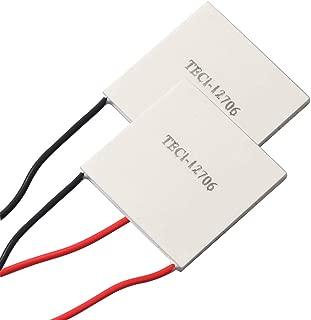 (2pcs) TEC1-12706 Heatsink Semiconductor Refrigeration Tablets 6A 12 Volt 60 Watt Thermoelectric Cooler Cooling Peltier Plate Module