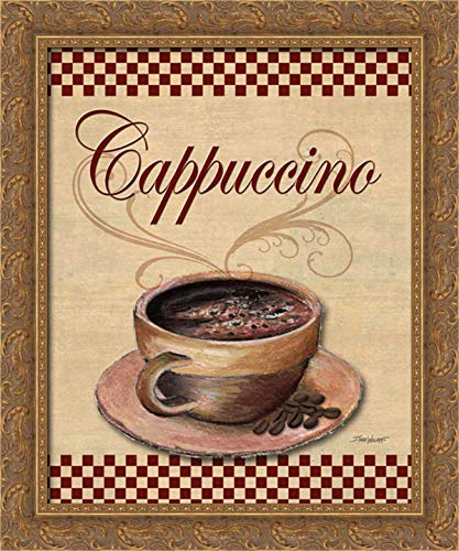 Williams, Todd 20x24 Gold Ornate Framed Canvas Art Print Titled: Cafe Cappuccino