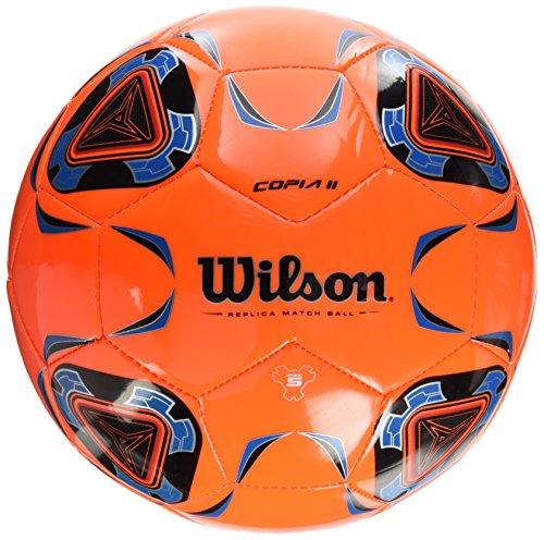 Wilson, Pallone da calcio, Copia II, Misura 5, Arancione/Blu, Per ragazzi e adulti, WTE9282XB05