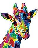 Toudorp Kits de pintura por números, 40 cm x 50 cm, lienzo, pintura al óleo, pintura acrílica de bricolaje con lupa 3X, pinturas acrílicas y pinceles (sin marco)
