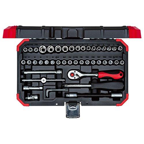 """GEDORE red Steckschlüsselsatz, 46-teilig, Mit Umschaltknarre, Ratsche, Steckschlüssel und Bitsatz, 3/4"""""""
