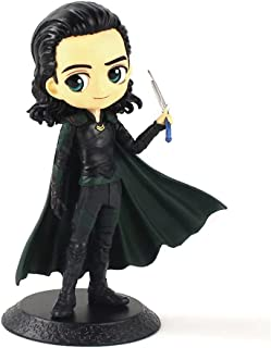Kid's Toy 15cm Q Posket Infinity War Figures Spiderman Thor Loki Avengers Model Dolls Birthday Gifts ( Color : Black )