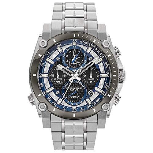 Bulova Orologio Cronografo Quarzo Uomo con Cinturino in Acciaio Inox 98B316