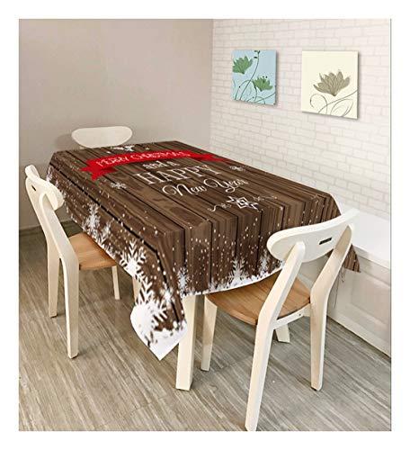 ZHAOXIANGXIANG Nappe De Noël European Cirée Accueil Polyester Tapis De Table Grande Table De Conférence Rectangulaire Nappe Imperméable Noël Motif Flocon,60X60Cm