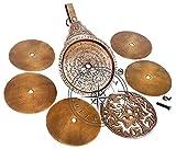 Hanzla Collection Astrologischer Astrolaben-Kalender, 20,3 cm, arabischer Globus -