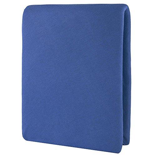 CelinaTex Aqua Wasserbett Boxspringbett Spannbettlaken 200x220-220x240 cm royal blau Baumwolle Bettlaken Elastan