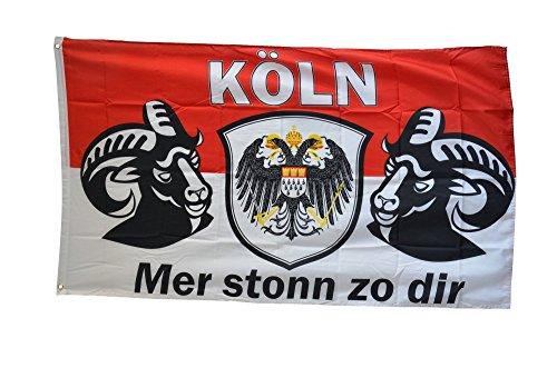 Flaggenfritze® Fanflagge Köln Mer stonn zu dir - 90 x 150 cm