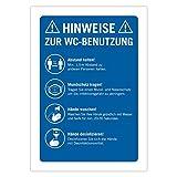 """3 Stück Schild Corona Regeln""""WC Benutzung"""" WC Hinweisschild Einzelhandel, Supermarkt Gastronomie A4"""