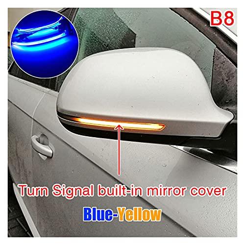 Nearandfar Indicatori di direzione, Scorrimento a LED Dynamic Dynamic Signal Light Side Specure Lampeggiante Ripetitore Luminoso Blinker per Audi A3 8P A4 A5 B8 Q3 A6 S6 SQ3 A8 D3 8K