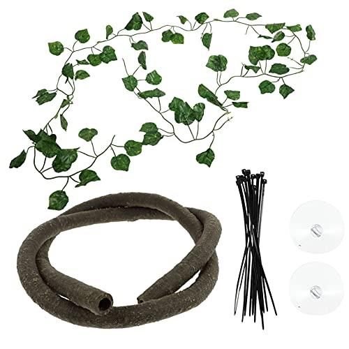 Toyvian Reptiel Planten Jungle Vines Huisdier Habitat Decor Kunstmatige Rotan Ornamenten Voor Hagedissen Bebaarde Draken…