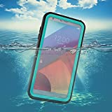 LG G6 Waterproof Case,Underwater Cover Full Body Protective Shockproof Snowproof Dirtproof IP68 Certified Waterproof Case with Kickstand for LG G6-2017 Newest Released-Aqua