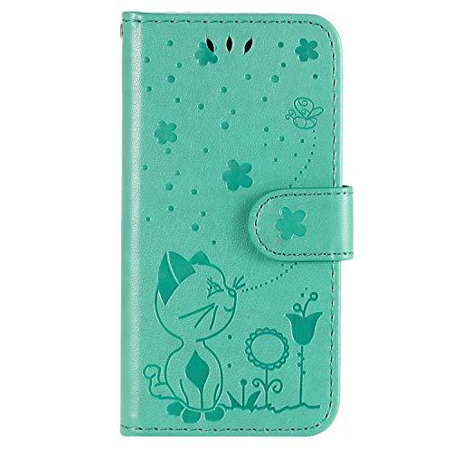Tosim Galaxy S20+ (S20Plus) Hülle Klappbar Leder, Brieftasche Handyhülle Klapphülle mit Kartenhalter Stossfest Lederhülle für Samsung Galaxy S20 Plus - TOKTU160492 Grün