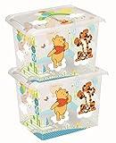 2 x Spielzeugkiste Spielzeugbox Box Fashion-Box Disney Winnie Pooh 20 L