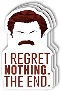 msgolbi 3 PCs Stickers Ron Swanson Sticker for Laptop, Phone, Cars, Decal Vinyl Funny Stickers for Computers, Bumpers, Hyd...
