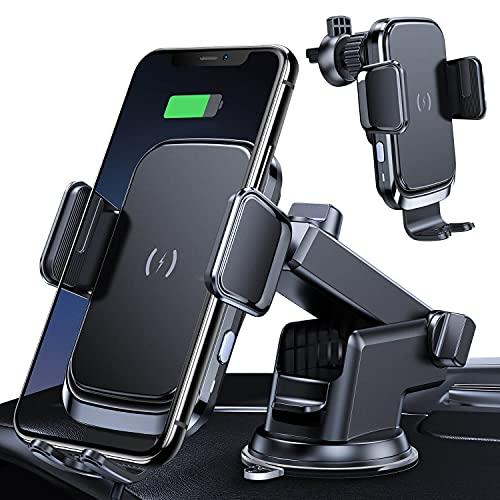 LIMEY 車載 ワイヤレス 充電器 チャージャー 急速充電対応 QC3.0 急速 ハンズフリー スマートフォン 吹出口 取付 車 スマホスタンド iPhone Android カーアクセサリー SH01