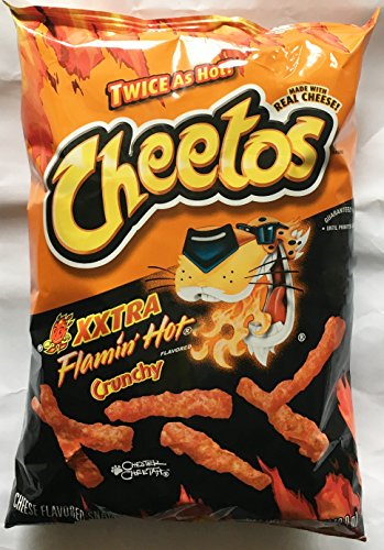8.5oz Cheetos XXTRA Flamin Hot Crunchy, Pack of 2