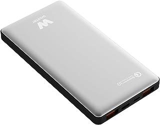 Woxter QC 16000 bärbart batteri (QC-anslutning, 16 000 mAh, aluminiumlegering, kompatibel med Quick Charge 3,0) silver