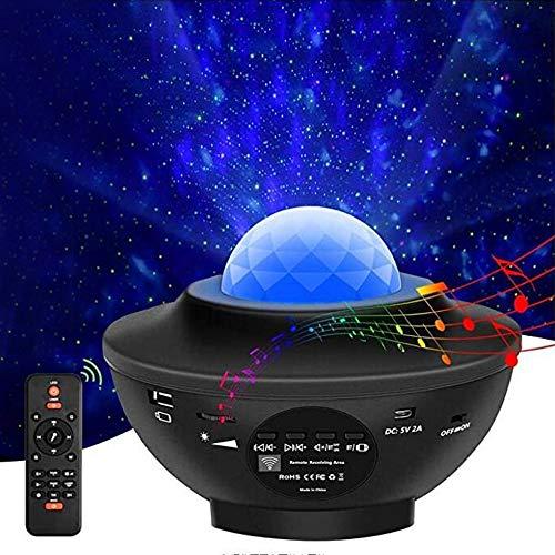 Apark Sternenhimmel Projektor, LED Sternenlicht Projektor Rotierende Wasserwellen Projektionslampe, Farbwechsel Musikspieler mit Bluetooth & Timer, für Kinder Erwachsene Zimmer Dekoration
