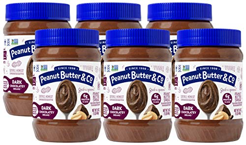 Peanut Butter & Co. Dark Chocolatey Dreams Peanut Butter, Non-GMO Project Verified, Gluten Free, Vegan, 16 Ounce (Pack of 6)