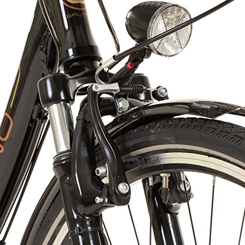 Galano 28 Zoll Prelude Citybike Stadt Fahrrad Licht 3 Gang Nexus, Farbe:Schwarz - 5
