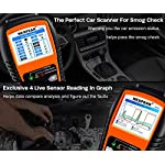 NEXPEAK OBD2 Scanner NX501 Enhanced OBD II Auto Code Reader Car Diagnostic Scan Tool Vehicle Check Engine Light Analyzer… 13 【Professional Vehicle Code Reader】 NEXPEAK NX501 is an enhanced auto scanner that you can NOT ONLY check all engine related fault codes, find out what caused the check engine light comes on, turn-off Malfunction Indicator Lamp (MIL), locate bad O2 sensor, but also can monitor car battery health status, remind you when the battery need to be replaced. It's a perfect scan tool helps you to determine if your car need to be repaired and avoid blind maintenance, saves your time and money. 【Wide Array of Compatibility】 Accurately read and erase error codes on all OBD2 protocol vehicles with a 16 PIN interface (KWP2000, ISO9141, J1850 VPW, J1850 PWM and CAN). The NEXPEAK NX501 is compatible with most US vehicles that are model year 1996 or later – including sedans, SUVs, light trucks, and 12V diesels. This is a plug-and-play engine diagnostic code reader (both generic and manufacturer specific codes) – no extra batteries or apps required. 【NOT ONLY Full OBD2 Function】 All 10 modes OBD2 diagnostic function including: read and erase fault codes, retrieve I/M readiness and freeze frame data. Unique graphical forms to display live sensor data, Auto VIN acquisition, O2 Sensor and EVAP Test (Mode 8), Advanced On-board Monitoring (Mode 6). This auto analyzer can not only reveal what error codes your car is producing, but also monitor the battery voltage at all time during OBD car diagnostic, reminds you when having an aging battery