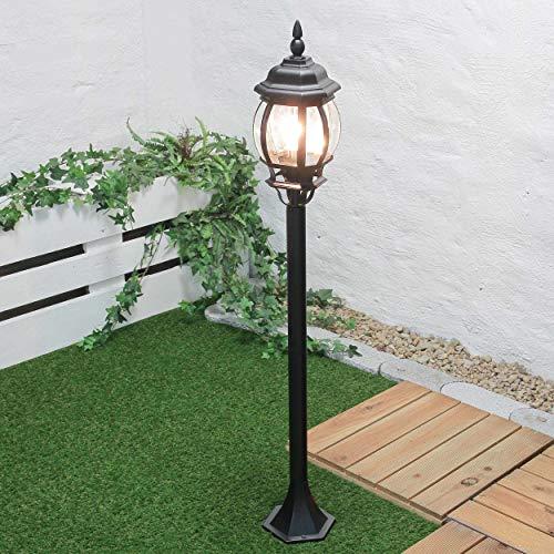 Wegeleuchte Außen Brest in schwarz E27 bis 60W 230V IP23 Außen-Steh-Leuchte Lampe Weg Stand Garten Beleuchtung Lampen