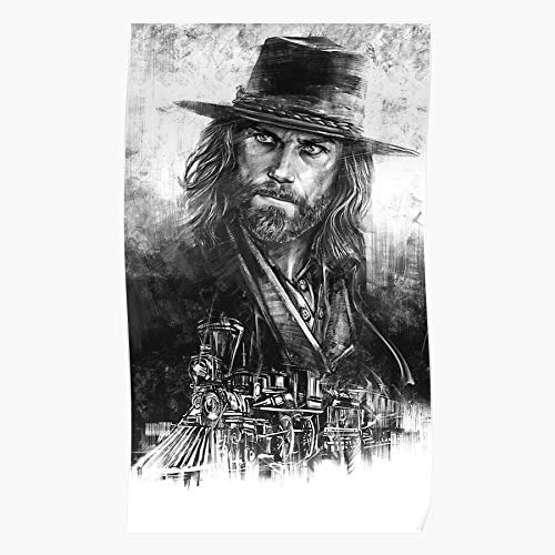 BLUEFLY On Art Cullen White Black Graphic Hell Wheels Western and Bohannon Handmade Wall Art Posters are for Home Decor Wall Art Print Poster