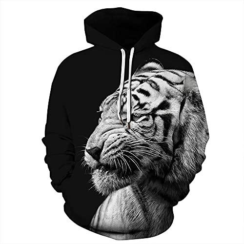 ASDFSADF Frühling und Herbst Schöne Tier 3D-Druck Wolf Tiger Übergroßer Hoodie Harajuku Street Hip Hop Hooded Sweatshirts Tops-style7._Asiatische Größe S.